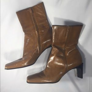 Women's Leather Nine West Booties Size 8M